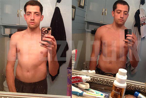John HGH Results before and after