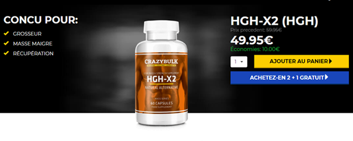 Buy HGH X2 Pills in France